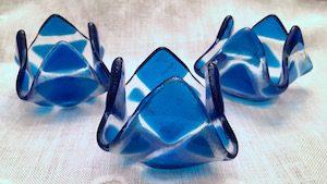"""Blue Tealight (approx. 3"""" x 3"""" x 2""""), $8 each"""