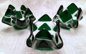 """Dark Green Tealight (approx. 3"""" x 3"""" x 2""""), $8 each"""