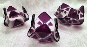 "Purple Tealight (approx. 3"" x 3"" x 2""), $8 each"