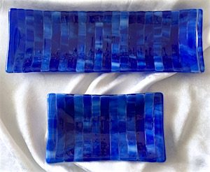 "Streaky Tray: Lake (long approx. 4"" x 11.5"", $25; short approx. 4"" x 6.75"", $12.50)"
